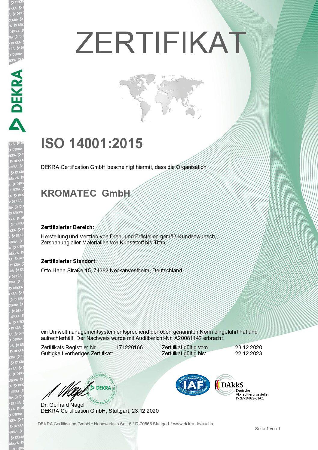 Zertifikat ISO 14001_2015